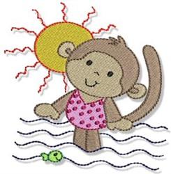 Beach Monkey embroidery design
