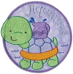 Aquarius Applique embroidery design