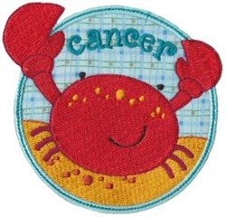 Cancer Crab Applique embroidery design