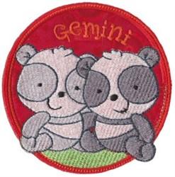 Gemini Applique embroidery design