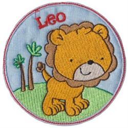 Leo Applique embroidery design