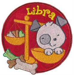 Libra Applique embroidery design