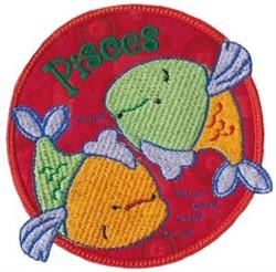 Pisces Applique embroidery design