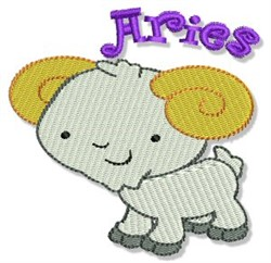 Aries Ram embroidery design