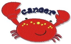Cancer Crab embroidery design