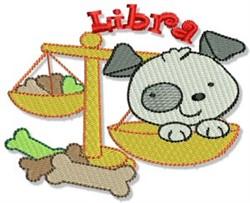 Libra Puppy embroidery design