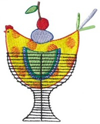 Kitchen Chicken embroidery design