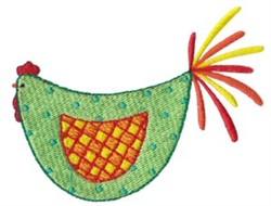 Green Kitchen Chicken embroidery design