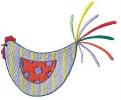 Striped Kitchen Chicken embroidery design