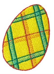 Plaid Chicken Egg embroidery design