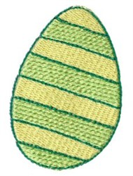 Striped Chicken Egg embroidery design