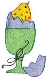 Egg & Egg Cup embroidery design