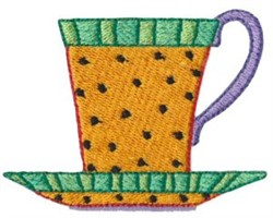 Country Cup & Saucer embroidery design