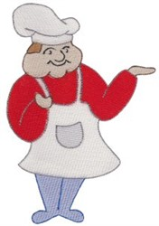 Serving Chef embroidery design