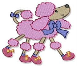 Fancy Pink Poodle embroidery design