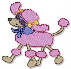 Stylish Poodle embroidery design