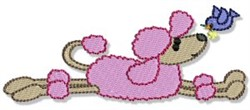 Playful Poodle embroidery design