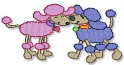 Poodle Pals embroidery design
