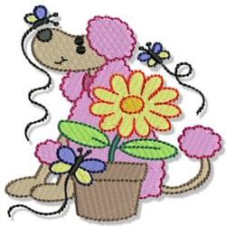 Garden Poodle embroidery design