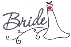 Here Comes The Bride embroidery design