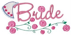 Bride & Roses embroidery design