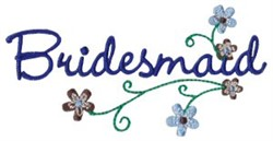 Bridesmaid & Flowers embroidery design
