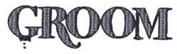 Groom embroidery design