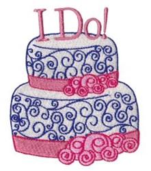Wedding Cake I Do! embroidery design