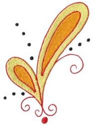 Pretty Gold Paisley embroidery design