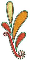 Pretty Orange Paisley embroidery design