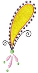 Pretty Yellow Paisley embroidery design