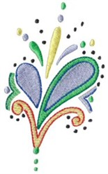 Pretty Pastel Paisley embroidery design