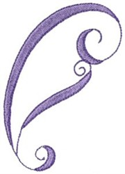 Pretty Outlined Paisley embroidery design