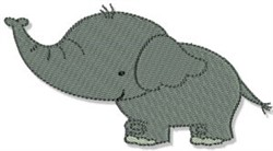 Mighty Jungle Animal Elephant embroidery design