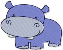 Mighty Jungle Hippo embroidery design