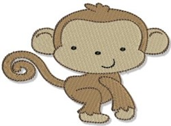 Mighty Jungle Monkey embroidery design