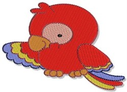 Mighty Jungle Parrot embroidery design