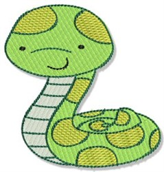 Mighty Jungle Snake embroidery design