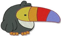 Mighty Jungle Toucan embroidery design