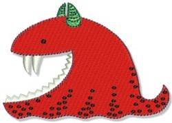 Lil Red Monster embroidery design