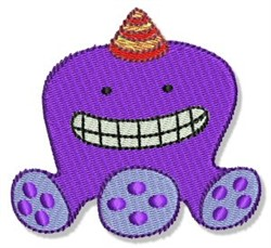 Lil Purple Monster embroidery design