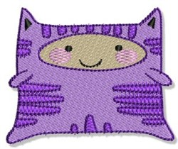 Lil Cat Monster embroidery design