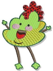 Lil Chicken Monster embroidery design