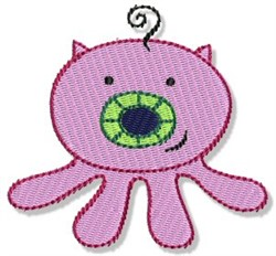Lil Piggy Monster embroidery design