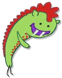 Lil Crazy Monster embroidery design