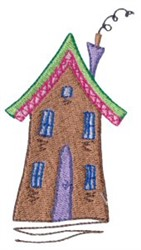 Dinky Doodle House embroidery design