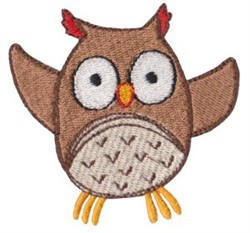 Dinky Doodle Owl embroidery design
