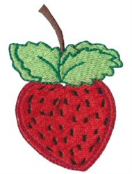 Dinky Doodle Strawberry embroidery design