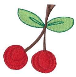 Dinky Doodle Cherries embroidery design