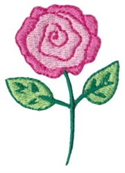 Dinky Doodle Rose embroidery design